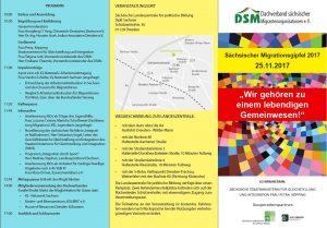 Flyer Sächsischer Migrationsgipfel 2017